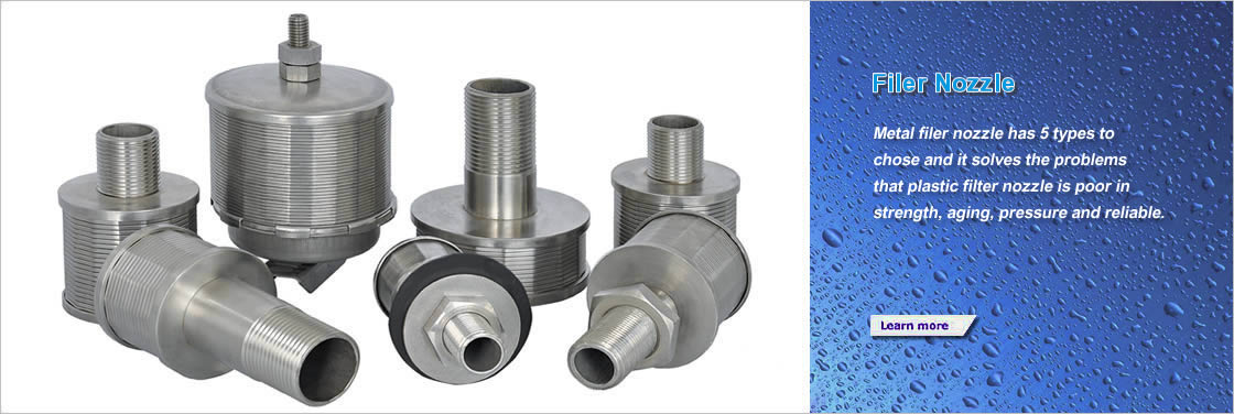 7 different sizes stainless steel filter nozzle