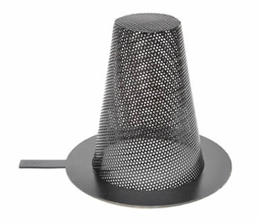 Basket types stainless steel perforation mesh temporary filter