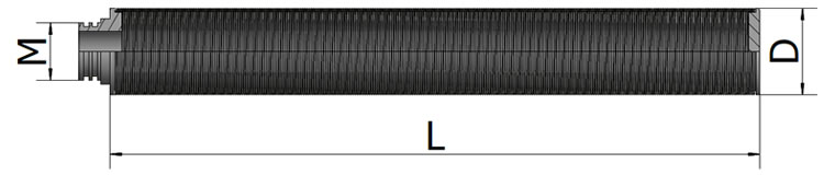 Cylinder filter element four drawing including its length, diameter, installing forming
