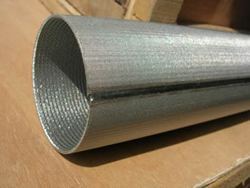 One stainless steel cylinder filter element tube end welded detail