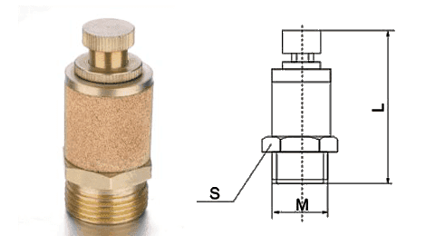 Type B exhaust muffler throttle valve and its drawing reference.