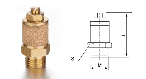 TType E exhaust muffler throttle valve and its drawing reference.