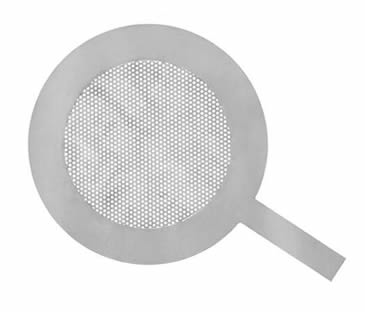 Flat types perforation mesh temporary filter