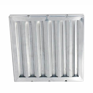 One galvanized grease baffle grease filter with three grease collection holes
