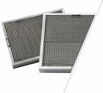 Two aluminum honeycomb grease filter with aluminum mesh grid and two handles