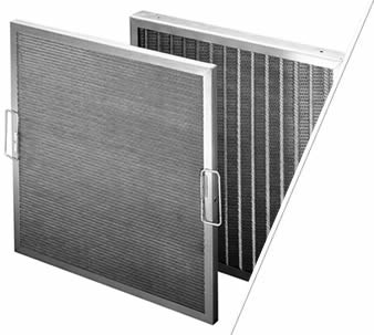 Two aluminum construction metal air filter with handles