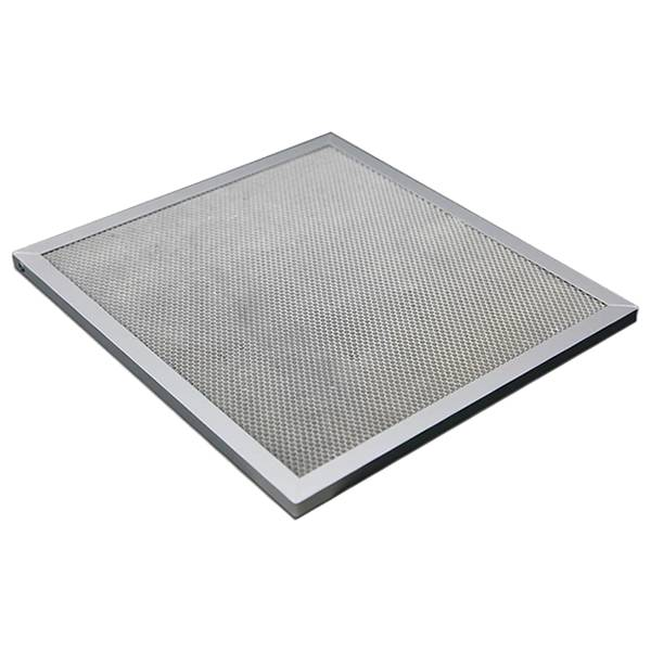 Honeycomb photocatalyst filter with aluminum frame.