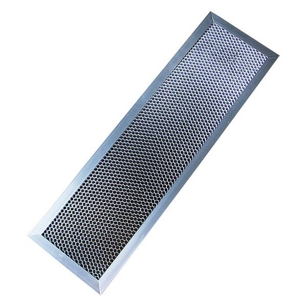 Photocatalyst filter with honeycomb mesh opening.