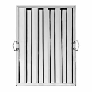 One stainless steel grease baffle grease filter with two fold flat handles